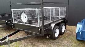 8x5 Tandem Trailer with Custom 2ft Cage