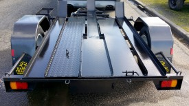6x4 Bike Trailer with Checker plate Floor