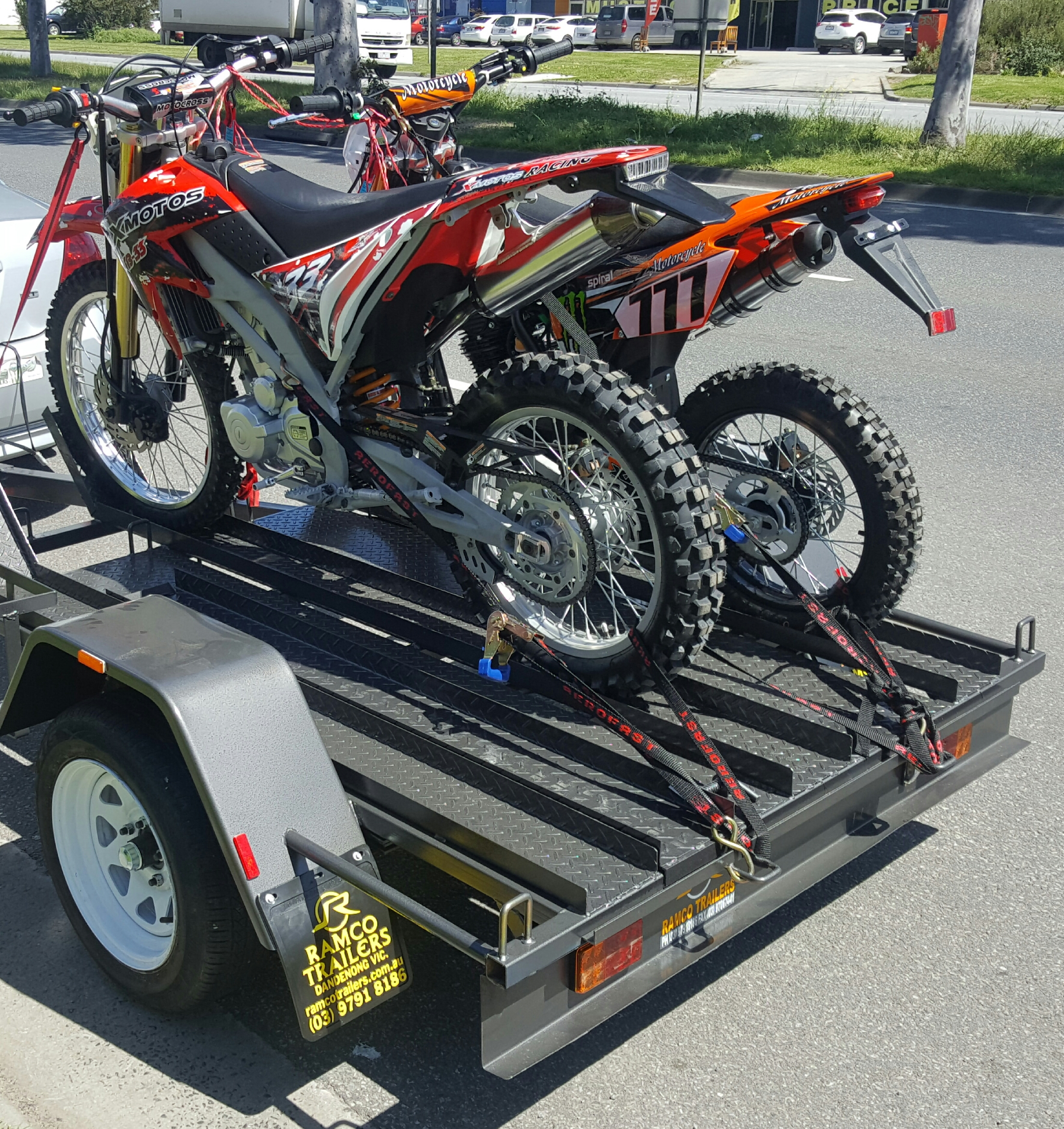 Motorbike Trailers For Sale Melbourne Vic Ramco Trailers