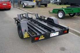 Custom 7x4 Bike Trailer with Twin Jerry Can Holder
