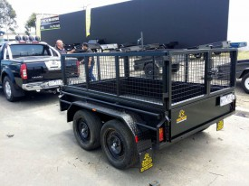 8x5 Tandem Trailer with custom Painted Cage