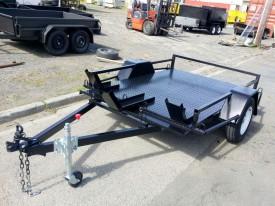 Custom 6x4 bike trailer with full Checker plate floor