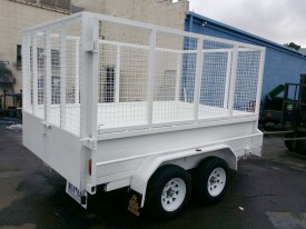 8x5 Tandem Trailer with Custom Cage & Paint fittings