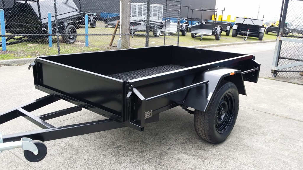 6x4 Box Trailer Heavy Duty with Checker Plate Floor